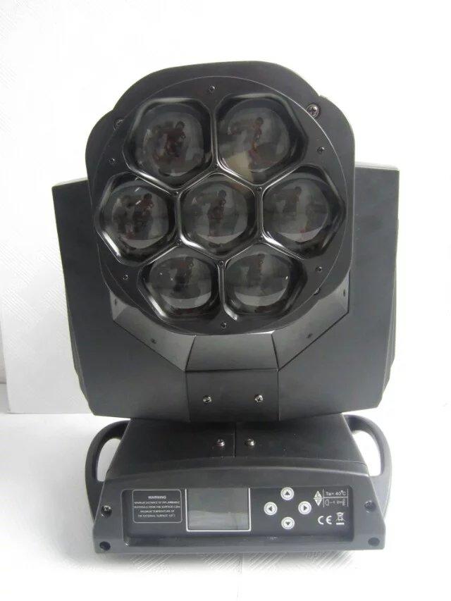 4pcs/lot china aliexpress led lights 7*15W 4 In 1 LED mini bee eye zoom moving head light for dj lighting