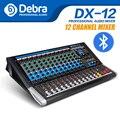 Дебра аудио DX-12 12 каналов аудио dj микшер контроллер звуковая карта с 24 DSP эффект, включающим в себя гарнитуру блютус и флеш-накопитель USB XLR Jack ...