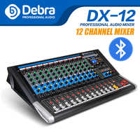 Debra Audio DX-12 12-Channel Mixer Audio dj controller di Scheda Audio con 24 Effetti DSP USB Bluetooth XLR Martinetti ingresso Aux