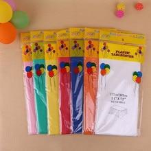 Разноцветная Водонепроницаемая скатерть, пластиковая одноразовая скатерть, маслостойкая Скатерть, вечерние столовые приборы для мероприятий, столовые приборы 137*183 см
