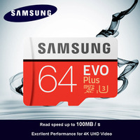 100 Original SAMSUNG Micro SD Card 64 GB U3 Memory Card EVO Plus 64GB Class10 TF