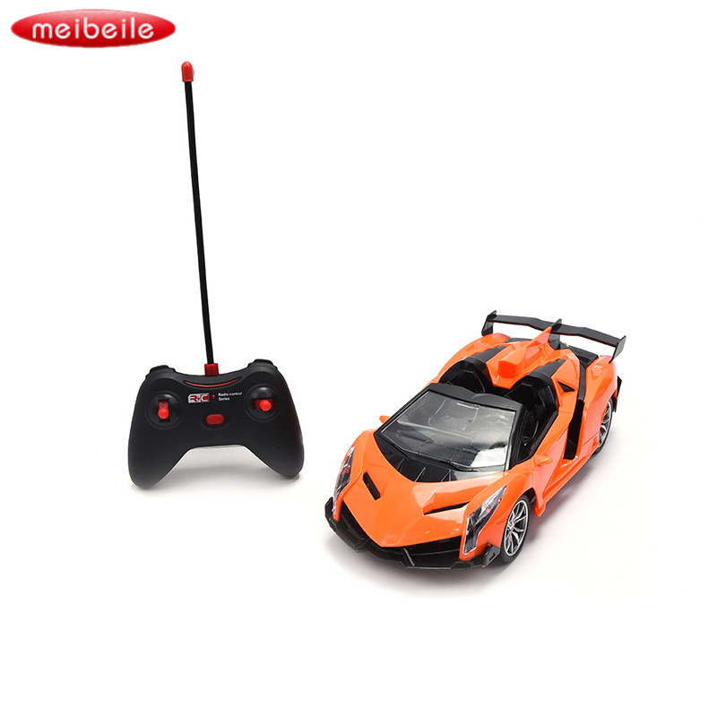 Red / Orange Remote Control handle Electric Car with Light 1:16 Scale Remote Control Car models Classic toys Best Gift For Kids