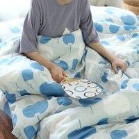 Pamuk Japonya Tarzı Dairesel Fan rahat yatak seti kral nevresim set çarşaf nevresim yorgan kapak yastık vaka