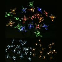 Waterproof Butterfly Style 20LED Solar String Fairy Lights Premium Quality LED Decorative Garden Outdoor Christmas Light