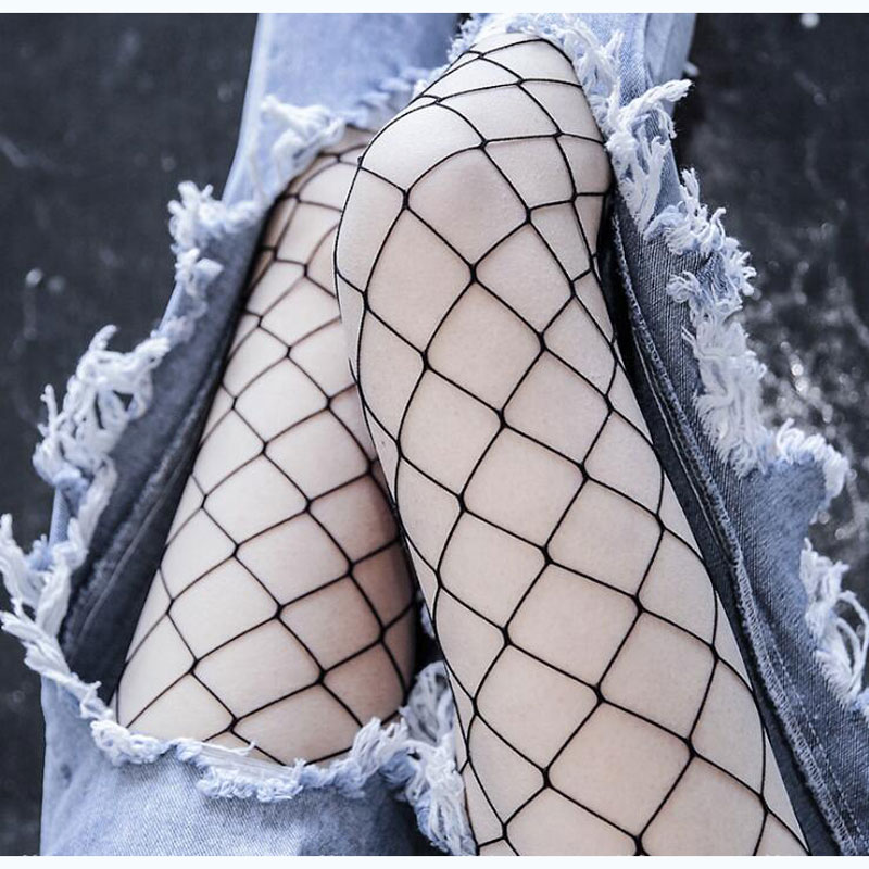 2017 Hot Sale Hollow Out Fishnet Tights Sexy Women Fishnet Pantyhose Fashion Thin Black Mesh Pantyhose Female Net Mesh Tights
