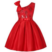 Summer Dress Girl New Fashion Toddler Party Princess Christmas Dress Wedding Kids Dresses For Girls Bridesmaid Tutu Dress 3-8Y 3 12t brand satin flower girl dress red sequin princess tutu party wedding dresses for girls christmas style sweet kids dress