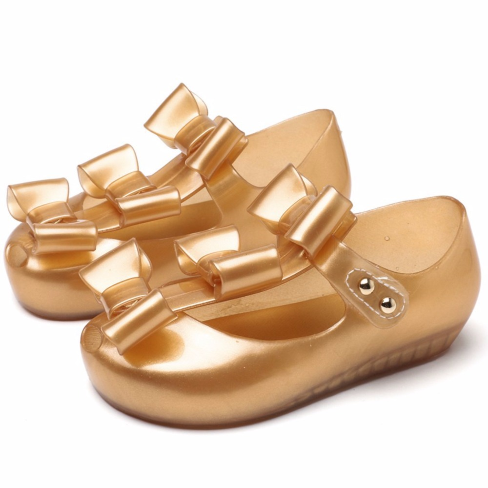 Melissa Bowknot Kids Shoes 2018 New Summer Cross Mary Jane Kid Sandals Sweet Children Beach Cute Buckle Shoes