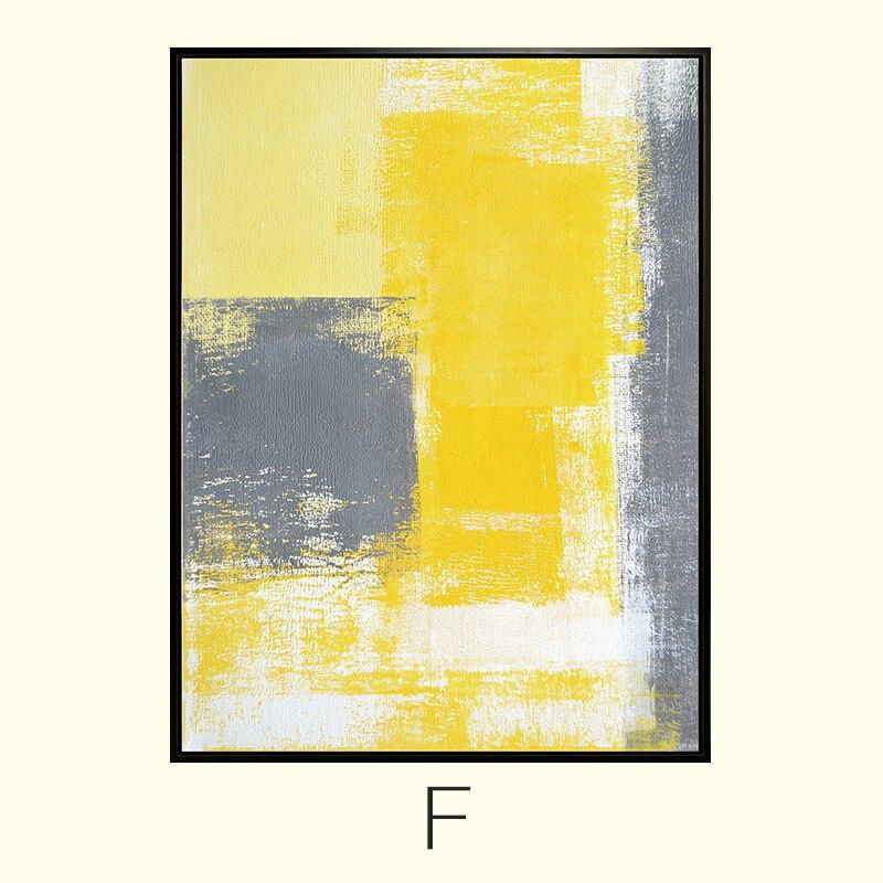 Ձեռքով նկարված պատի արվեստի դեղին - Տնային դեկոր - Լուսանկար 5
