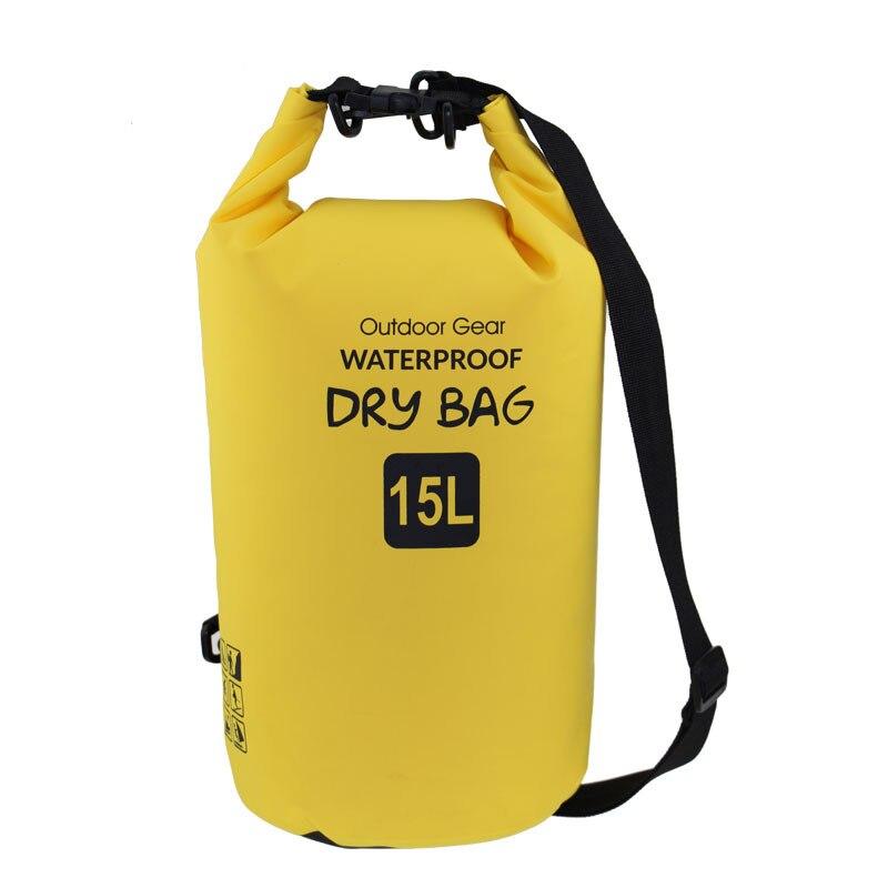 15L Dry bag 500D PVC Waterproof Sack Storage Bag Rafting beach Volleyball Sports Kayaking Canoeing Swimming Bag Travel Kits
