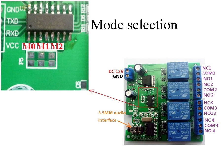 Image 4 - CE023 DC 12V DTMF MT8870 Phone Voice Decoder Control Momentary Toggle Latch Delay Timer Multifunction Relay Remote Module-in Relays from Home Improvement