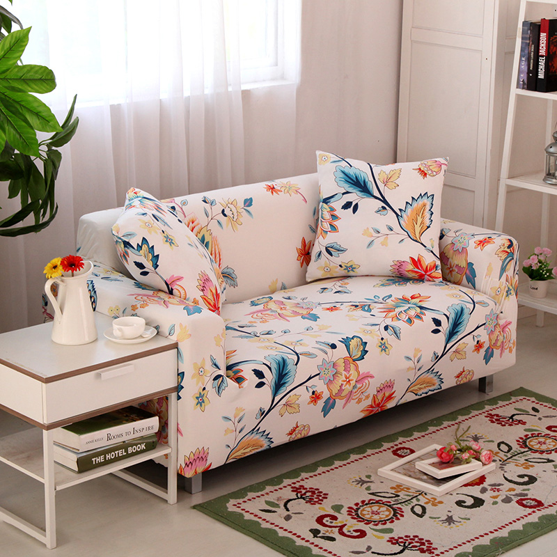 romorus beautiful polyester elastic sofa cover floral cover for rh aliexpress com