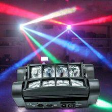 Mini LED örümcek ışık 8X10W LED ışın hareketli DMX sahne ışıkları iş ışık yüksek güç ışık profesyonel KTV için disko DJ