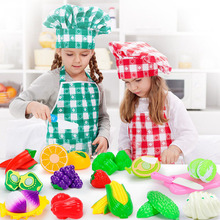 New Cut Buns Vegetable Toys Children's Kitchen Kawaii Puzzle Toys Gifts Kitchen Play House Education Cut Fruit Toy Set new appliances children s puzzle play house kitchen toys multi function vacuum cleaner electric iron juice machine play kitchen