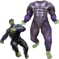 Avengers 4 Endgame Hulk Cosplay Costume Superhero Robert Bruce Banner Zentai Bodysuit Suit Jumpsuits