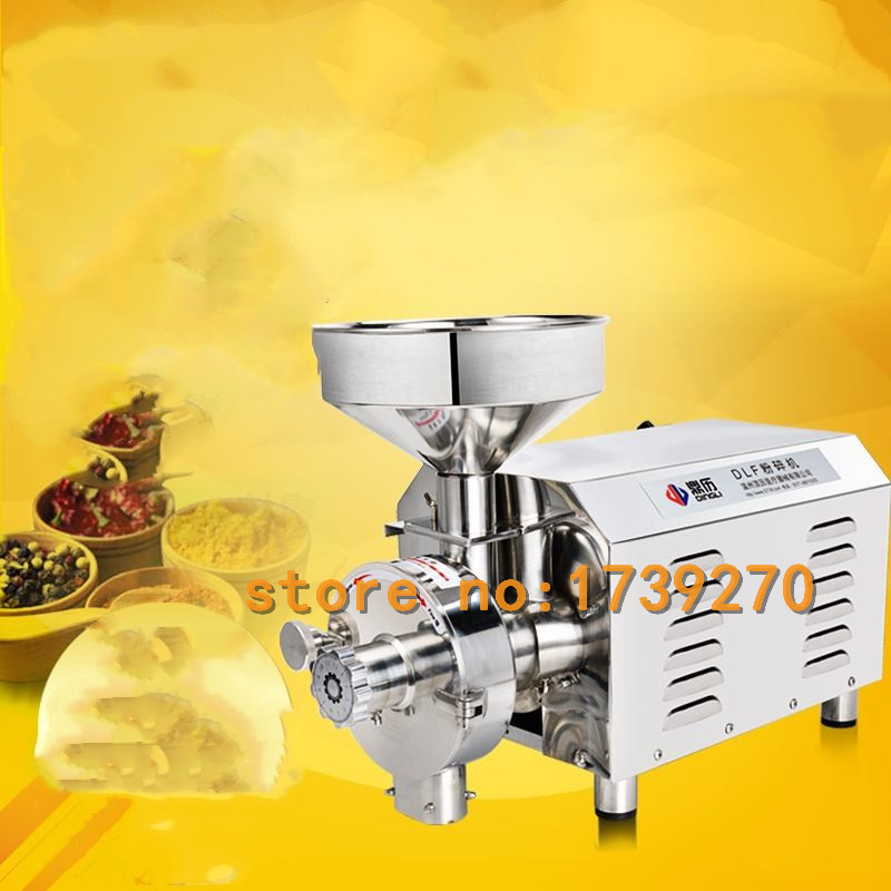 free ship grains grinding machine automatic flour mill powder machine,coconut cocoa pepperpowder making machine