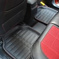 5PCS Black Car Styling Floor Mats FloorLiner Front Rear Carpet Universal For Car All Weather Skid