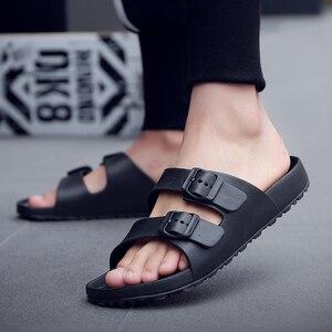 Image 4 - AODLEE Plus Size 45 Fashion Men Sandals Slip On Breathable Brand Summer Beach Sandals Men Slides Casual Shoes sandalias hombre