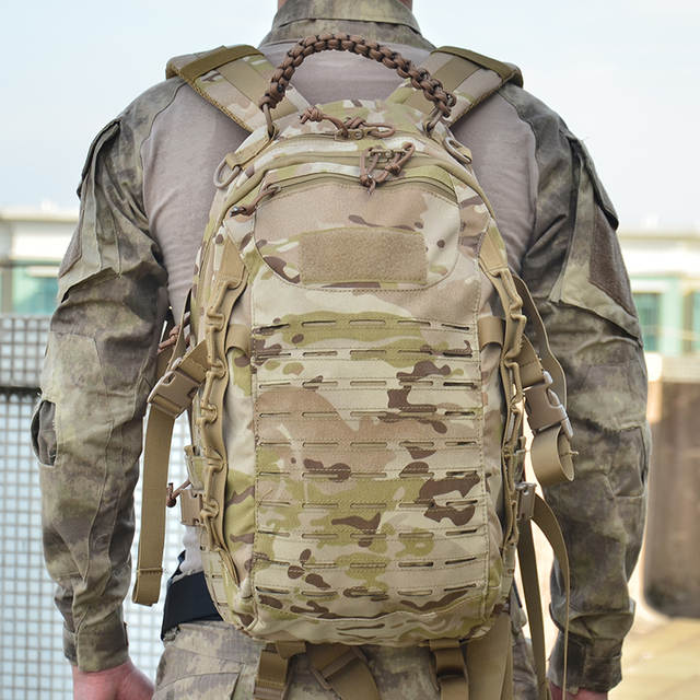 US $60 48 39% OFF|Tactical Military Backpack Hiking Outdoor Hunting Bag EDC  Tactical Gears Laser Cut Molle PALS Multicam Bag 25L Camping Sport Bag-in