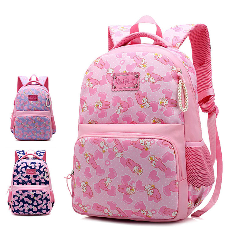Kawaii Cartoon rabbit Backpack For Teenage Girls Children School Bags Women Shoulder Bags Student School Backpack Kids Bookbag 16 inch anime teenage mutant ninja turtles nylon backpack cartoon school bag student bags double shoulder boy girls schoolbag page 8