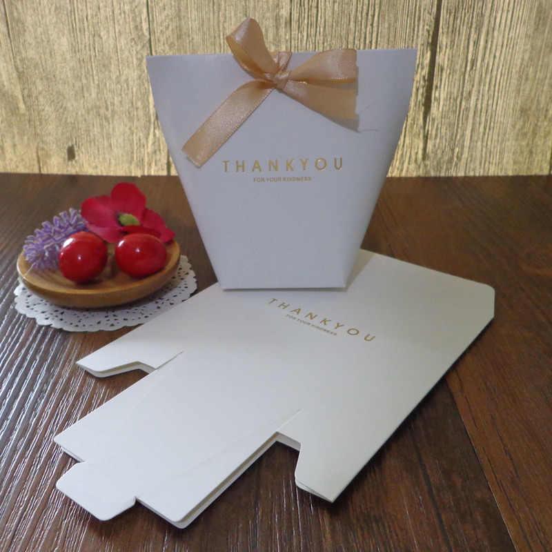 5 шт. черно-белая бронзовая конфетная Сумочка для драже французский спасибо свадебный подарок коробка пакет день рождения любимые пакеты