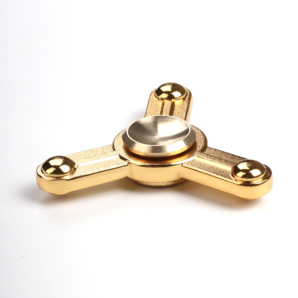 Simple style Triangle Alloy Hand Spinner Metal Fidget Spinner Toys for Adult and Kids