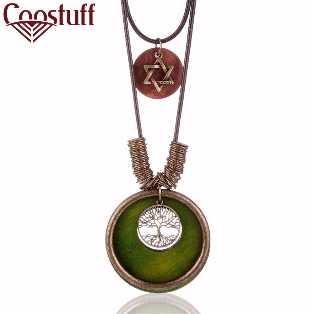 Fashion Jewelry Gifts for Women Accessories Neckless Choker Tree of Life Best Friends Pendant Israel Long Star of David Necklace(China)