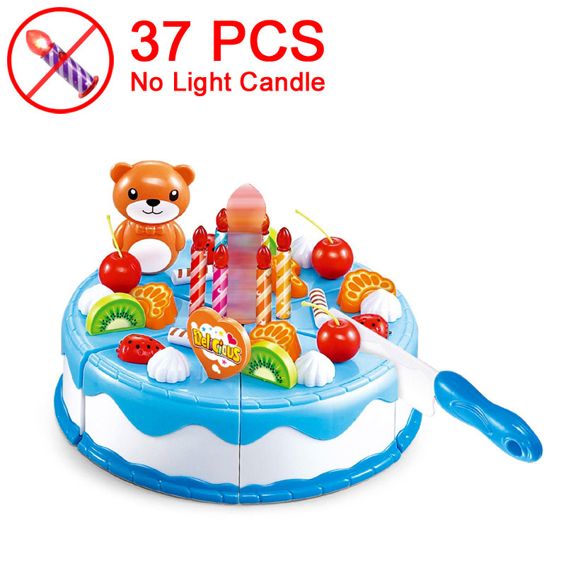 37 Blue NO Candle X