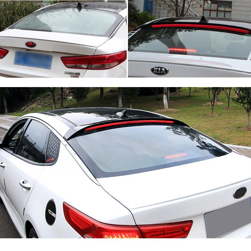 Rear Glass Wing LED Roof Spoiler Gloss Black For Kia All New Optima K5 2016~2017