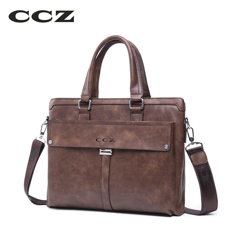 CCZ 2017 New Arrival Mens Handbag Crossbody Bag For Men Business Briefcase Male Shoulder Bag 14 Laptop Computer Bag HB8005 new arrival purple men s canvas handbag with european design for male