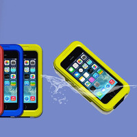 IPX 8 Fashion Durable Waterproof Underwater Swimming Dive Shockproof Gel Touch Screen Protective Case For Apple