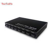 Ethernet Optical Fiber Switch 8 port 100Mbps SC fiber and 2 port 1000Mbps RJ45 fiber media converter 20KM