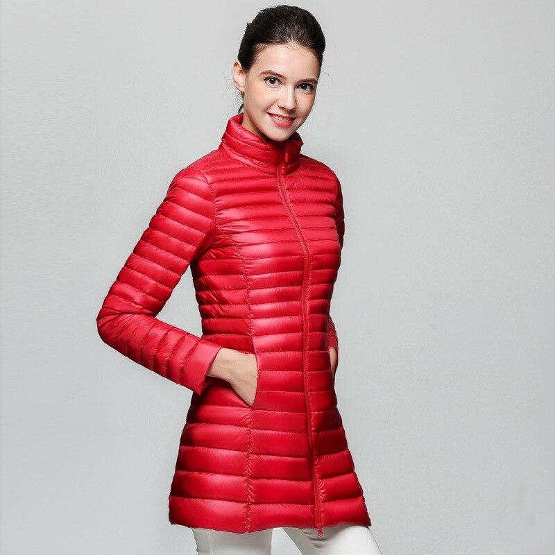 00f808c6e US $41.0 |2017 Women Winter Coats White Duck Down Jackets Ultra Light Long  Outwear Parka-in Down Coats from Women's Clothing on Aliexpress.com | ...