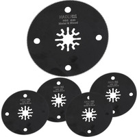FREE SHIPPING 5 Pcs 80mm HSS Circular Oscillating MultiTool Saw Blade Fit For Makita AEG Fein