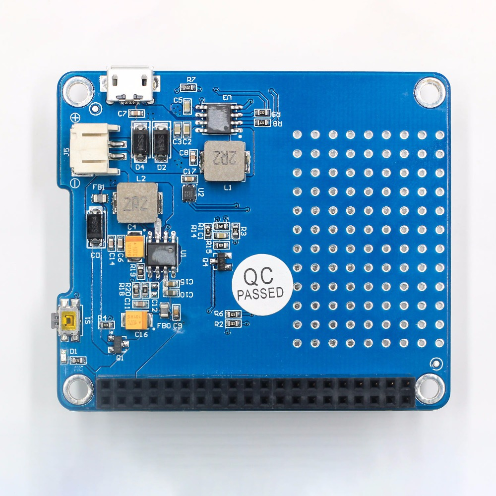 1PC UPS HAT Board 1500mAh Lithium Battery For Raspberry Pi 3 Model B Pi 2B B A Board Module in Integrated Circuits from Electronic Components Supplies