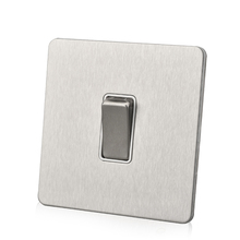 stainless steel Silver 1 gang 2 way  wall light switch plate steel flat panel wall electric switch chint lighting switches 118 type switch panel new5d steel frame four position six gang two way switch panel