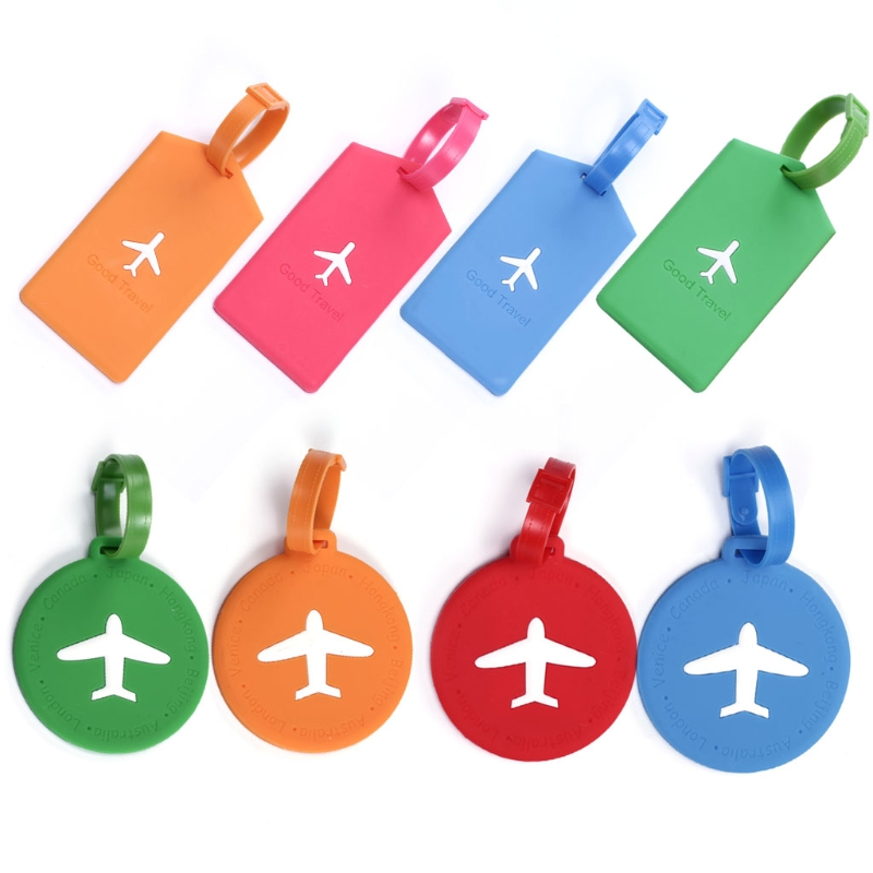 THINKTHENDO New Travel Accessories Novelty Travel Luggage Bag Tag Suitcase Baggage Office Name Address ID Label Plastic 2 Shape