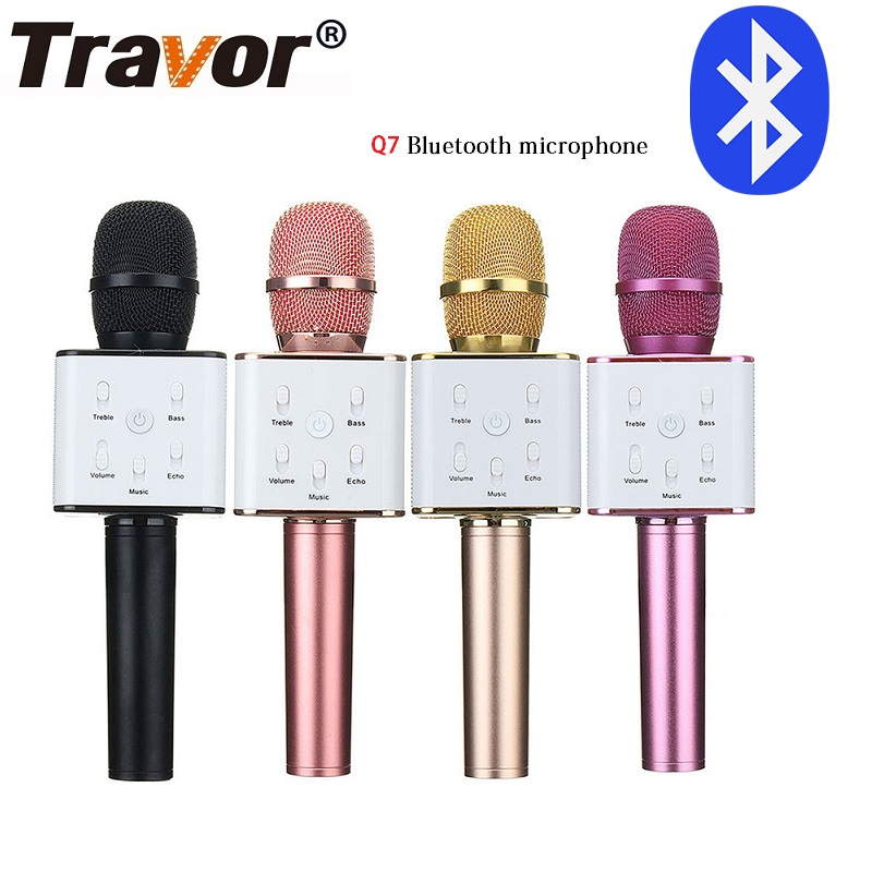 Travor Bluetooth Q7 Wireless Microphone Karaoke Speaker High-end Version Mic KTV Player Phone Mike For Computer Stage Conference