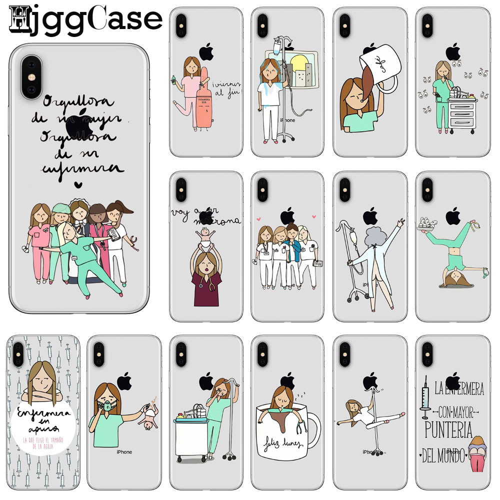 Cellphones & Telecommunications Lovely Cute Funny Cartoon Medicine Equipment Nurse Doctor Stethoscope Cover Case For Coque Iphone 7 8 6 6s Plus 5s Se X Xs Max Xr Cover Half-wrapped Case