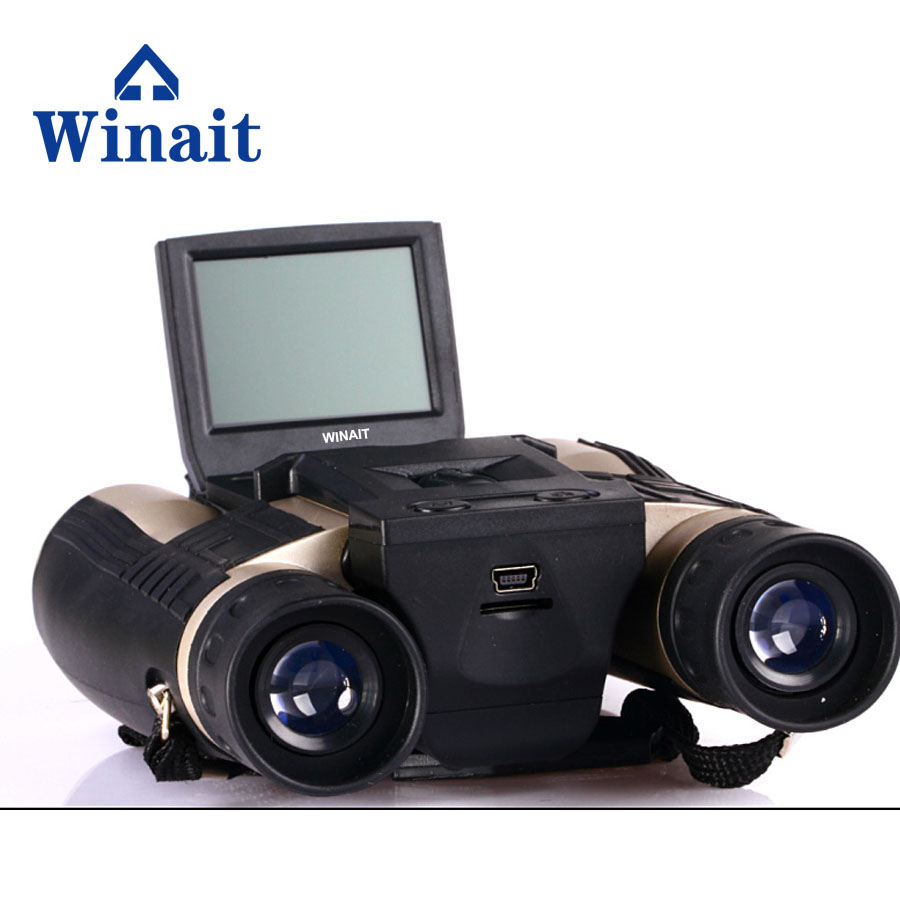 Winait  full hd 1080p digital telescope camera with 2.0'' TFT display and max 12mp digital binocular video camera free shipping winait electronic image stabilization hdv z8 digital video camera with recording function touch screen