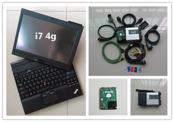 super mb star c5 with newest software 320gb hdd with laptop x201t i7 4g touch screen diagnostic tool 12v 24v ready to use