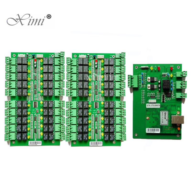 Free Shipping TCP/IP 40 Floors Biometric Fingerprint And RFID card Elevator Access Control Board Lift Controller System цены