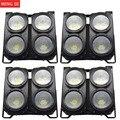 4 шт. профессиональная Комбинация 4x100 Вт LED blinder light 4 глаза COB Холодный/Теплый Белый LED Wash Light высокая мощность DMX сценическое освещение