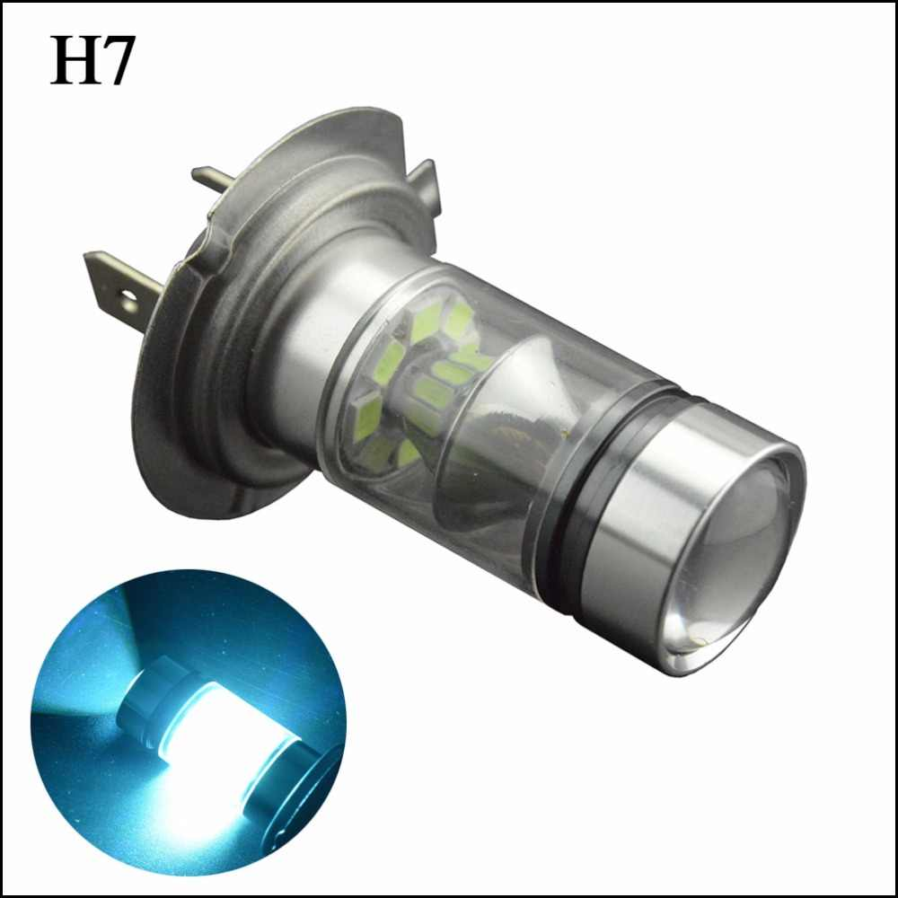 2X 100W H7 H8 H11 H16 20SMD 3030 LED Super Bright Ice Blue Yellow Driving Fog Running Driving Light Bulb Lamp 12V 24V 0.72A