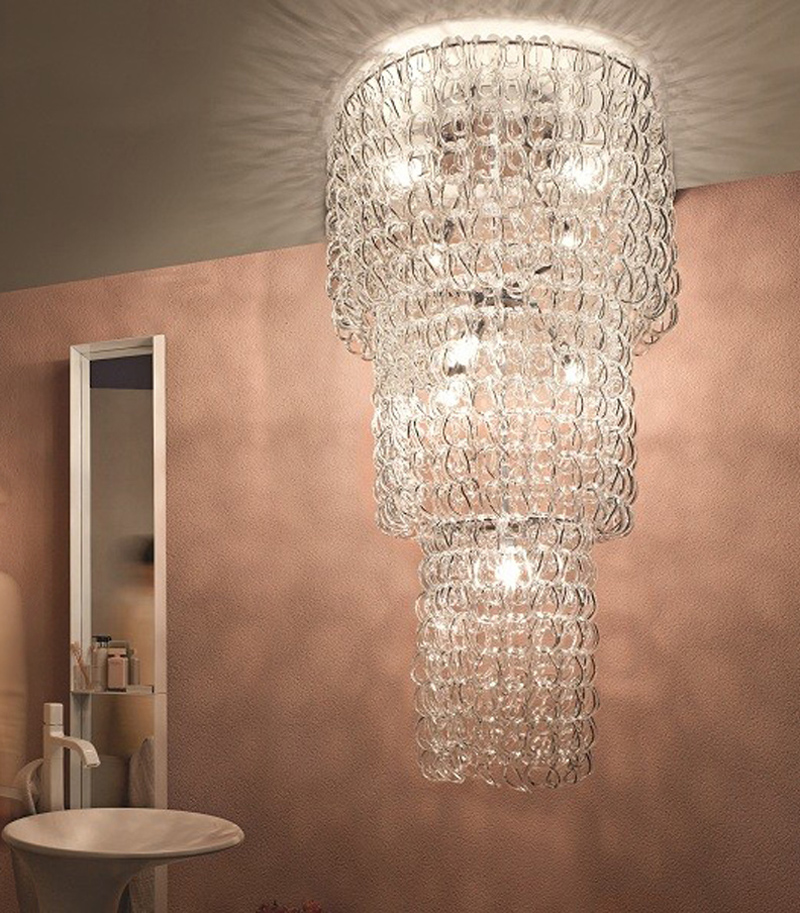 Giogali PL CA1/Ca2/Ca3 suspensión colgante luz por Angelo Mangiarotti de vistosi Iluminación lámpara colgante