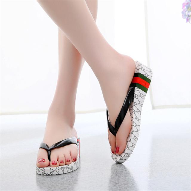 ENPLEI flip flops women Summer fashion women slippers Wedges sandals casual shoes