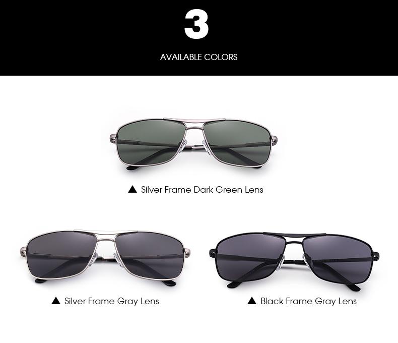 Green/Gray/Brown Rectangular Sun glasses