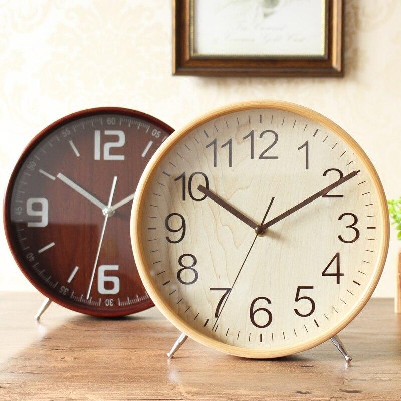 Meijswxj Tavolo di Legno Orologio Saat Reloj Comodino Staffa Orologio Relogio Reloj despertador Orologi Da Tavolo Masa saati Relogio de mesa