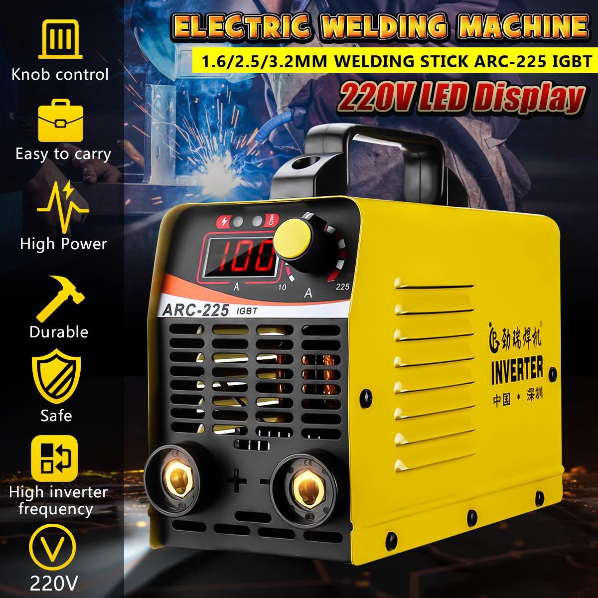 10-225A ARC-225 25KVA Handheld Mini MMA IGBT Inverter 220V Mini Electric ARC Welding Welder Inverter Machine Tool