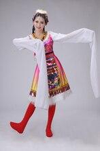 Modern chinese folk dance costume for girl