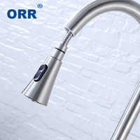 Food Grade Pull Out Kitchen Faucet High Quality Brush Water tap 304SUS Bathroom Accessories acero inoxidable grifo de lavab ORR